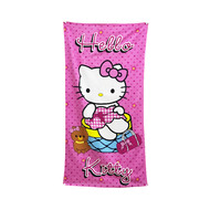 Microfiber Hello Kitty Absorbent Towel  70 X 140 cm