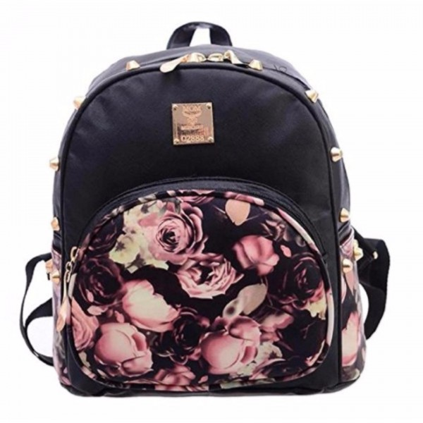 ready stock isales backpack floral shoulder cute bag beg travel