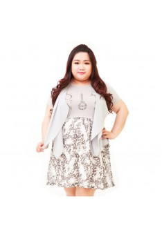 Design by Taiwan Plus size Dress XL 2XL 3XL  BUST SIZE UP TO 132 PSF4003