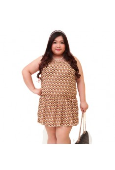 Design By Taiwan Plus Size Dress (XL 2XL 3XL  BUST SIZE UP TO 142) PSF4005