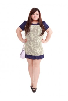 Design by Taiwan PLUS SIZE DRESS OFFICE WEAR (SIZE UP TO XL-4XL, 142CM BUST) PSF4009