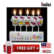 Ready Stock ISALES Cute Hello Kitty Candle Topper Happy Birthday Party