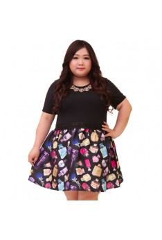 Design by Taiwan Plus Size Dress  (SIZE UP TO 4XL, 142CM BUST)