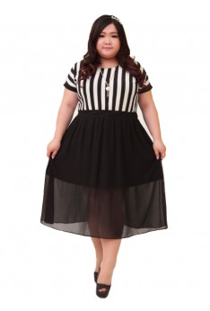 Design by Taiwan Plus Size Dress Office Wear (SIZE UP TO 4XL, 142CM BUST)