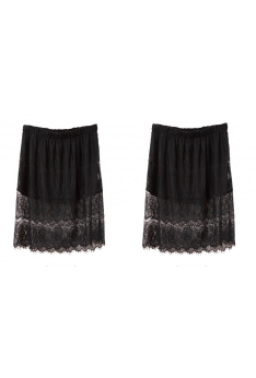 Design by Taiwan Plus Size Lace Skirt