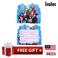 Ready Stock ISALES Birthday Card Avenger Invitation Card