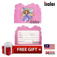Ready Stock ISALES Birthday Party Sofia Theme Invitation Card