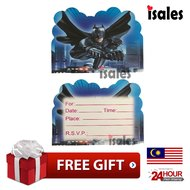 Ready Stock ISALES Birthday Party Batman Theme Invitation Card
