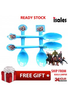 ISALES Avengers Theme Disposable Spoon Happy Birthday Party Decoration Supplies