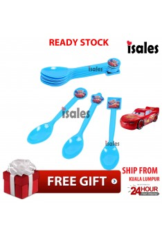 ISALES Cars Theme Disposable Spoon Happy Birthday Party Decoration Supplies