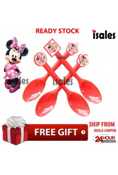 ISALES  Tableware Minnie Theme Spoon Decoration Birthday Party Supplies