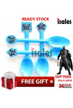 ISALES Batman Theme Disposable Spoon Happy Birthday Party