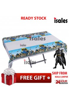 ISALES Batman Theme Tablecloth Table Cover Kids Party Event Decorations