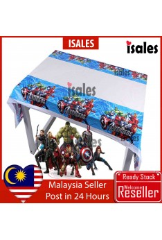 ISALES Avenger Theme Tablecloth Table Cover Kids Party Event Decorations