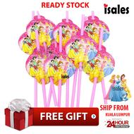 ISALES Princess Theme Drinking Straw Kids Party Decoration Event Birthday