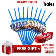 ISALES Cars Theme Drinking Straw Kids Party Decoration Event Birthday