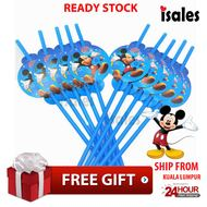 ISALES Mickey Theme Drinking Straw Kids Party Decoration Event Birthday