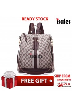 Ready Stock ISALES Backpack Bags Travel Shoulder Bag Casual Ladies Beg