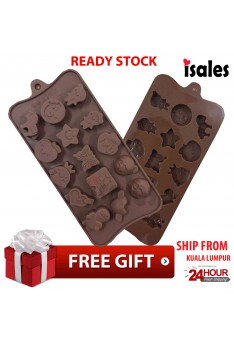 Ready Stock ISALES LOVE STAR Cute Couple Design Chocolate Jelly Cake Silicone Mould