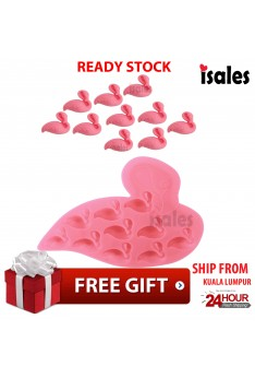 Ready Stock ISALES Flamingos Design Chocolate Jelly Cake Silicone Mold Mould