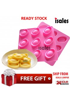Ready Stock ISALES Gold Ingot Silicone Cake Mould Ice/Chocolate Moulds Ice Cream Molds