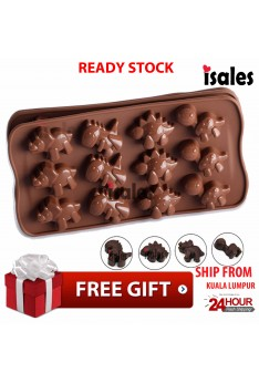 Ready Stock ISALES 3D Cake Mold Dinasour Shape Cupcake Soap Mould Muffin Silicone