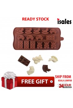 Ready Stock ISALES bear horse car shape Muffin case Candy Jelly Ice cake Silicone Mould Mold Baking Pan