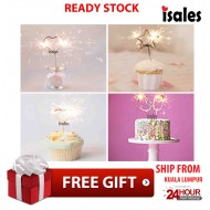 Ready Stock ISALES Candle Numbering & Love & Star Shape Special Candle Tiktok Ins