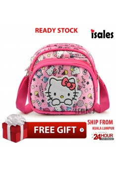 Ready Stock ISALES Cartoon Hello Kitty Mini Sling Bag Kids Baby Girl Bag