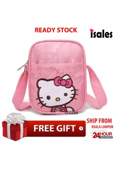 Ready Stock Hello Kitty Casual Shoulder Bag Girl Fashion Waterproof Kids Bags