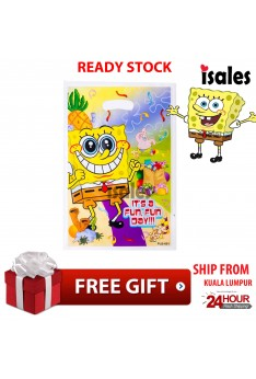 ISALES 6pcs Spongebob Goodies Plastic loot bag Baby Shower Door Gift Birthday Door Gift