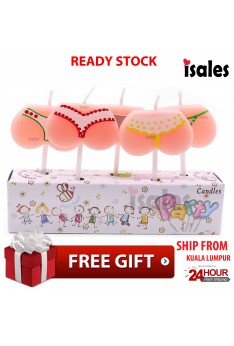 Ready Stock ISALES Party Decoration Birthday Bikini 2 Party Beach Party Theme Candle Cake Topper