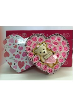 Love Style Rose Soap Pink Flower