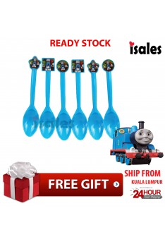 ISALES 6pcs Thomas Theme Disposable Birthday Party Decoration Supplies