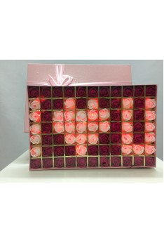Romantic Rose Light Box - I Love You-Pink