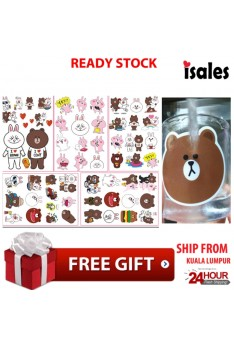 Ready Stock ISales 5 pack Set Line Sticker Bedroom Car Mobile Laptop Motobike Bowknot