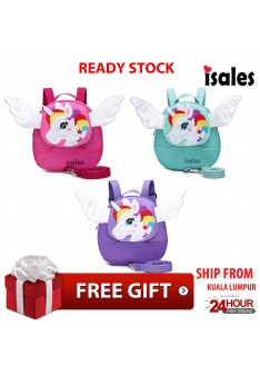 ISALES Unicorn Design Baby Kids Anti Lost Backpack Children Mini Bag