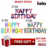 Ready Stock Happy Birthday Foil Balloon Macaron Colour 16 Inch Adult