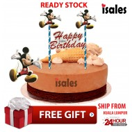 Ready Stock ISALES Cake Cupcake Topper Mickey Party Decoration Birthday