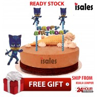 Ready Stock ISALES Cake Cupcake Topper PJ Mask Party Decoration Birthday
