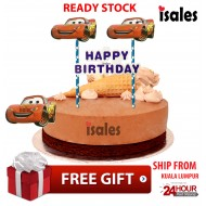 Ready Stock ISALES Cake Cupcake Topper Cars Party Decoration Birthday