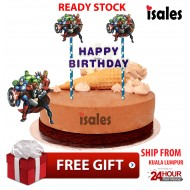 Ready Stock ISALES Cake Cupcake Topper Avenger Party Decoration Birthday