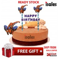 Ready Stock ISALES Cake Cupcake Topper Spiderman Party Decoration Birthday