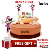 Ready Stock ISALES Cake Cupcake Topper Minnie Party Decoration Birthday