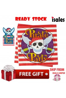 Party Decoration ISALES Pirate Theme Disposable Napkins Tissue Happy Birthday