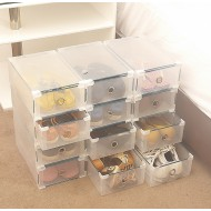 Ready Stock-Transparent Shoes Storage Box