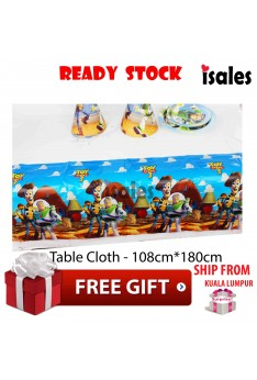 ISALES 1pc Toy Story Theme Tablecloth Table Cover Kids Party Baby shower Decorations