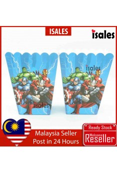 ISALES Avengers Popcorn Box Kids Birthday Party Event Decorations