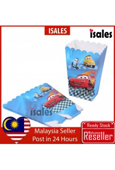 ISALES Cars Popcorn Box Kids Birthday Party Event Decorations