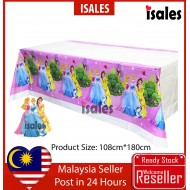 ISALES Three Princess Theme Tablecloth Table Cover Kids Party Event Decorations